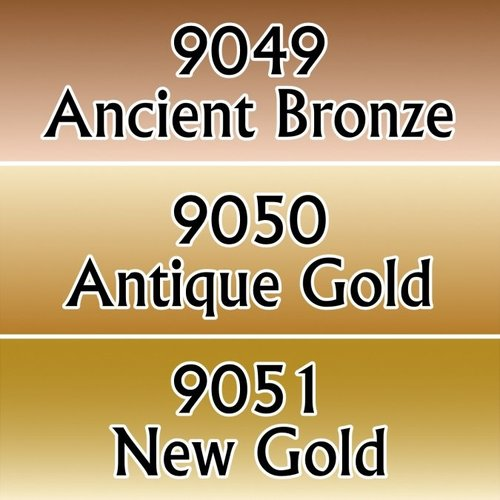 Reaper Miniatures REAPER: GOLD METALLICS TRIAD