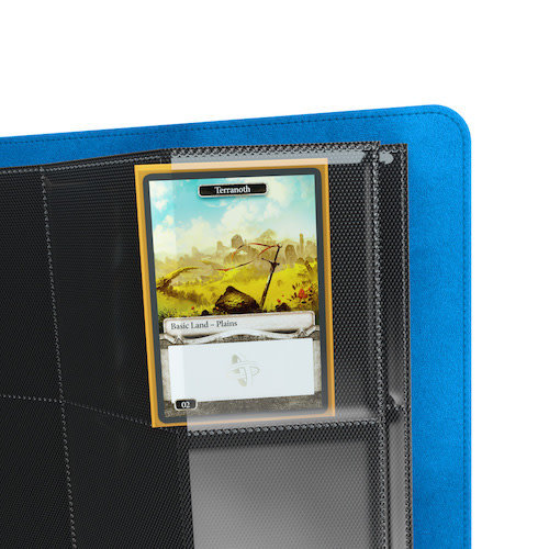 GAMEGENIC BINDER: ZIP-UP 8 POCKET - BLUE