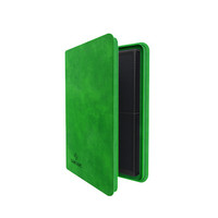 BINDER: ZIP-UP 8 POCKET - GREEN