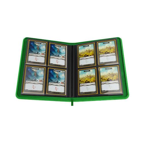 GAMEGENIC BINDER: ZIP-UP 8 POCKET - GREEN