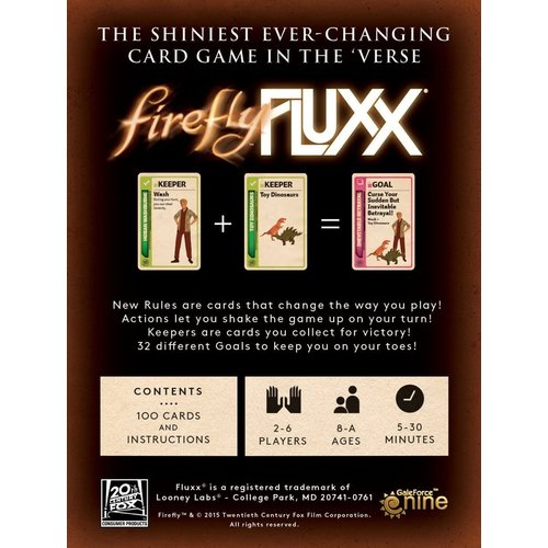 Looney Labs FLUXX: FIREFLY CARD GAME