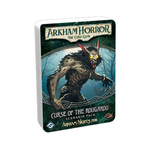 Fantasy Flight Games ARKHAM HORROR LCG: CURSE  OF THE ROUGAROU SCENARIO PACK