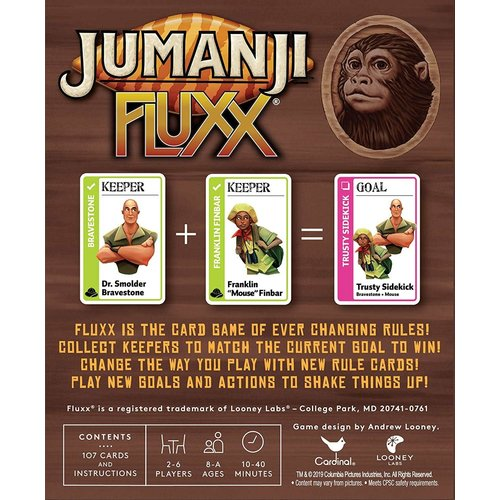 Looney Labs FLUXX: JUMANJI CARD GAME SPECIALTY EDITION
