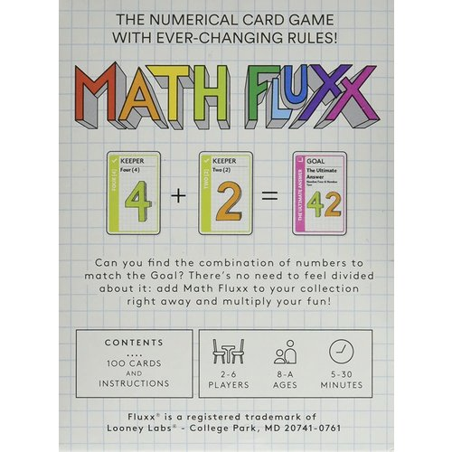 Looney Labs FLUXX: MATH CARD GAME