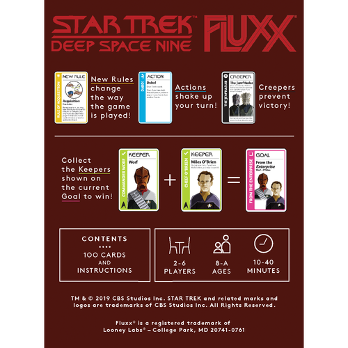 Looney Labs FLUXX: STAR TREK - DEEP SPACE NINE CARD GAME
