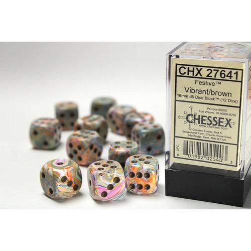 Chessex DICE SET 16mm FESTIVE VIBRANT