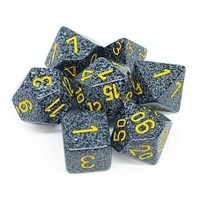 DICE SET 7 SPECKLED URBAN CAMO