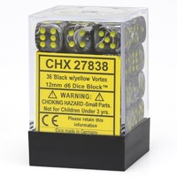 DICE SET 12mm VORTEX BLACK - Discontinued