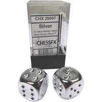DICE PAIR 16mm SILVER PLATED