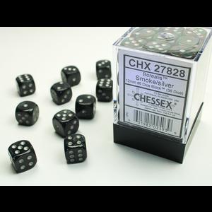 Chessex DICE SET 12mm BOREALIS SMOKE/SILVER