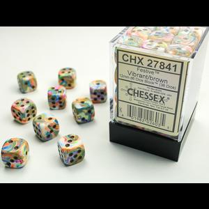 Chessex DICE SET 12mm FESTIVE VIBRANT/BROWN