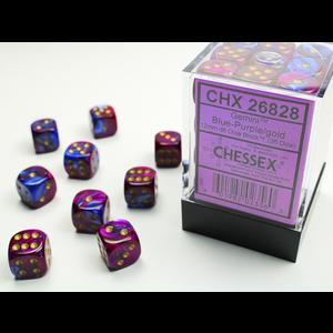 Chessex DICE SET 12mm GEMINI BLUE-PURPLE/GOLD