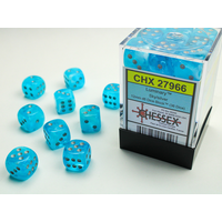 DICE SET 12mm LUMINARY SKY/SILVER