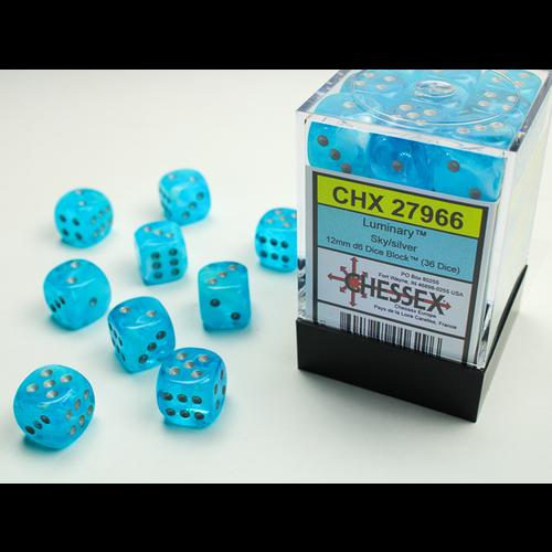 Chessex DICE SET 12mm LUMINARY SKY/SILVER