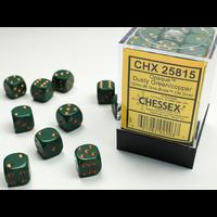 DICE SET 12mm: OPAQUE - DUSTY GREEN