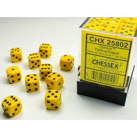 DICE SET 12mm OPAQUE YELLOW-BLACK