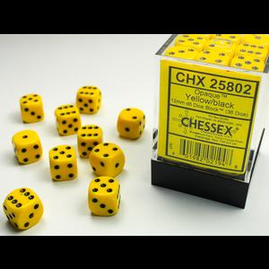 Chessex DICE SET 12mm OPAQUE YELLOW-BLACK