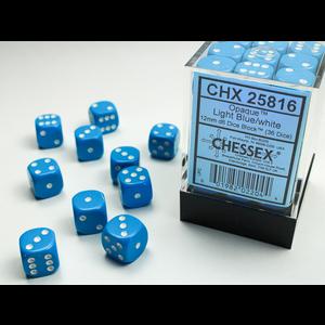 Chessex DICE SET 12mm OPAQUE LIGHT BLUE-WHITE