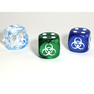 Chessex CUSTOM D6 16mm BIOHAZARD (Assorted)
