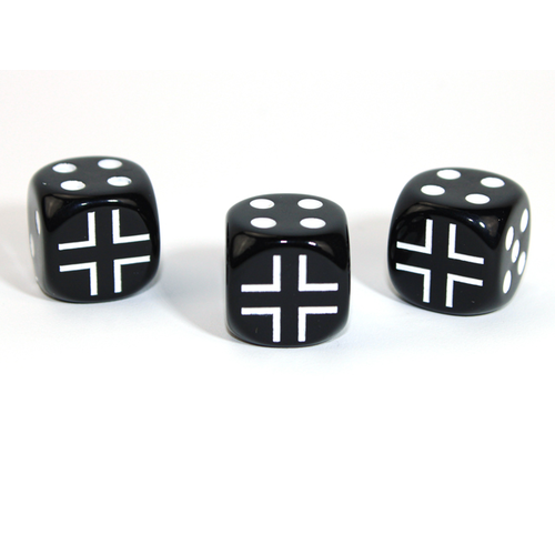 Chessex CUSTOM D6 16mm AXIS & ALLIES GERMANY