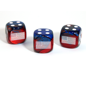 Chessex CUSTOM D6 16mm AXIS & ALLIES UNITED STATES
