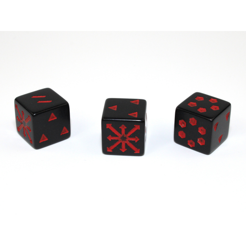 Chessex CUSTOM D6 16mm ARROWS OF CHAOS BLACK-RED