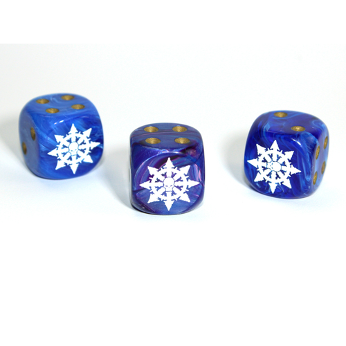 Chessex CUSTOM D6 16mm CHAOS STAR (Assorted Colors)