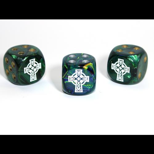 Chessex CUSTOM D6 16mm CELTIC CROSS (Assorted Colors)