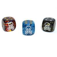 CUSTOM D6 16mm SKULL & CROSSBONES (Asst.)