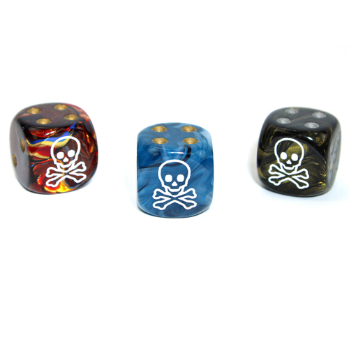 Chessex CUSTOM D6 16mm SKULL & CROSSBONES (Asst.)