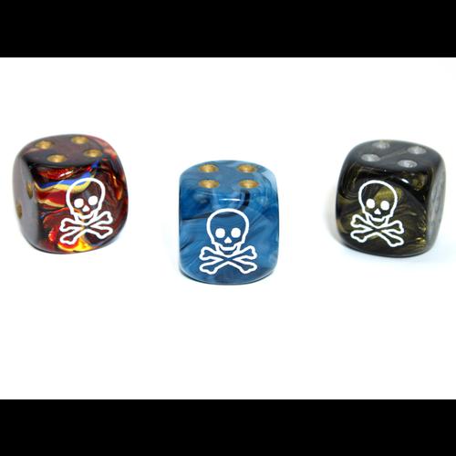 Chessex CUSTOM D6 16mm SKULL & CROSSBONES (Assorted Colors)