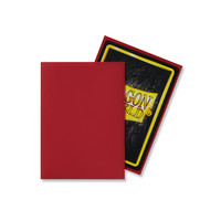 DECK PROTECTOR: DRAGON SHIELD: MATTE RED (100)