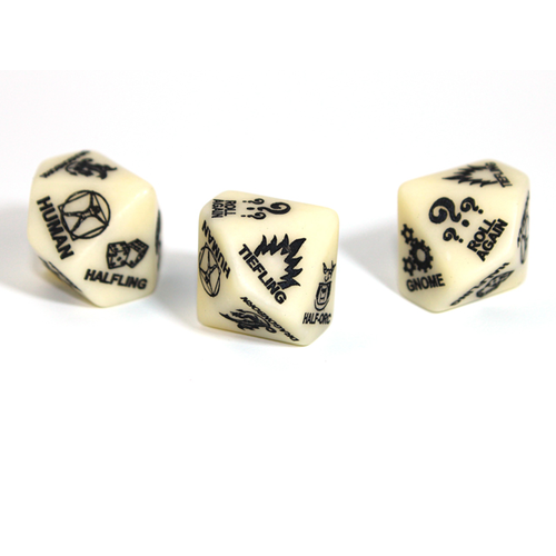 Chessex CUSTOM D10 16mm D&D 5TH ED RACE