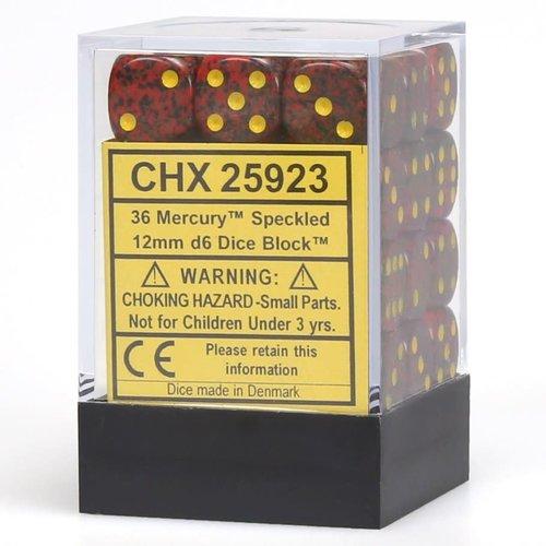 Chessex DICE SET 12mm SPECKLED: MERCURY