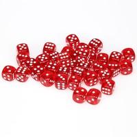 DICE SET 12mm TRANSLUCENT RED