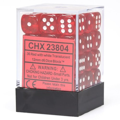 Chessex DICE SET 12mm TRANSLUCENT RED