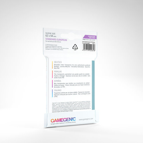 GAMEGENIC DECK PROTECTOR: PRIME - STANDARD EUROPEAN-SIZED SLEEVES (50)