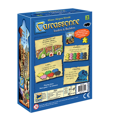 Z-Man Games CARCASSONNE: TRADERS & BUILDERS