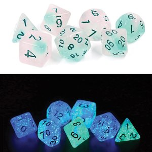 SIRIUS DICE DICE SET 7 GLOWWORM: FROSTED