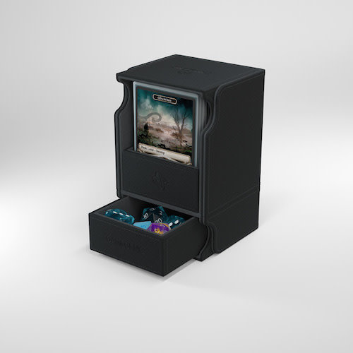GAMEGENIC DECK BOX: WATCHTOWER 100+ BLACK