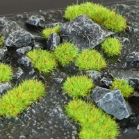 GAMERS GRASS: BRIGHT GREEN WILD TUFTS (2mm)