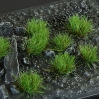 GAMERS GRASS: STRONG GREEN WILD TUFTS (6mm)