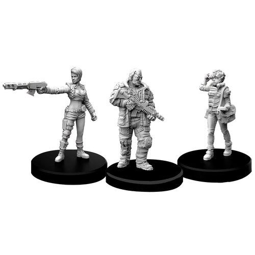 Monster Fight Club MINIS: CYBERPUNK RED: EDGERUNNERS D - SOLO, NOMAD AND MEDIA