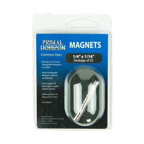 "Primal Horizon MAGNETS 1/4"" x 1/16"" (25)"