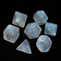 GLACIAL DICE SET 7 MOONSTONE BLUE