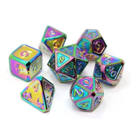 Die Hard Dice MYTHICA DICE SET 7 SCORCHED RAINBOW