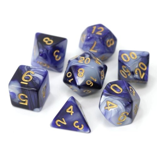 Die Hard Dice SWIRL DICE SET 7 INDIGO NIGHTS