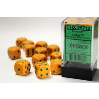 DICE SET 16mm SPECKLED LOTUS