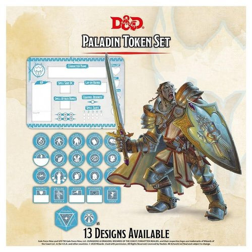 Gale Force Nine D&D 5E: CHARACTER TOKENS - PALADIN