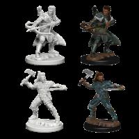 MINIS: D&D: HUMAN MALE RANGER (HAND AXE & SHORT BOW)